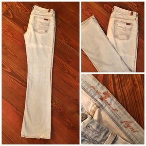 "7 FOR ALL MANKIND ""Flynt"" light wash flare jeans"